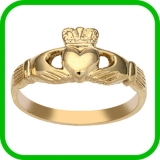 Gold Claddagh Rings Birmingham - Gold Claddagh Rings Jewellery Quarter